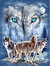5D Diamantmalerei Wolf Soul diy30x40cm Runde