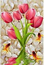 5D Diamantstickerei Kleine Blume Tulpe Kreuzstich