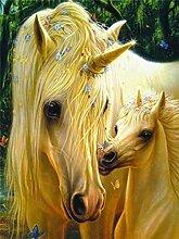 5D DIY Diamant Gemälde Tier Pferd Strass