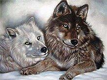 5D DIY Diamant Gemälde Tier Wolf Strass Stickerei