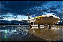 5D DIY Diamantmalerei Flughafen und Flugzeug