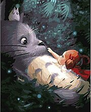 5D Diy Diamantmalerei, Totoro Diy Färbung Farbe