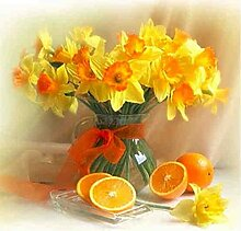 5D DIY Pflanze Diamant Malerei Vase Blume