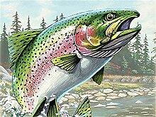 5D Malen nach Zahlen Fisch Bild für Wohnzimmer