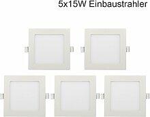 5er 15W Ultraslim Slim LED Panel Eckig