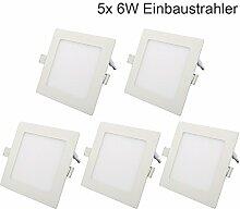 5er 6W Ultraslim Slim LED Panel Eckig