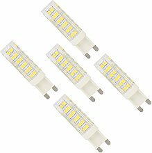 5er G9 7W Dimmbare LED Lampe Leuchtmittel mit 76