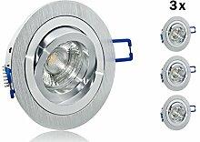 5er LED Einbaustrahler Set mit Marken GU10 LED