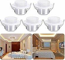 5er Mini Klein LED Einbaustrahler,3W Warmweiß LED