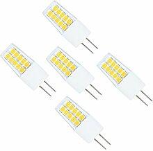 5er Pack 3W G4 LED Lampe,20X 2835SMD,300LM, Ersatz