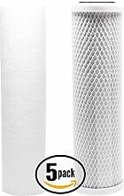 5er Pack Ersatz Filter Kit für liquagen Liqua 503RO System–inkl. Carbon Block Filter & PP Sediment Filter–Denali Pure Marke