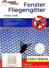 5er Pack Fenster Fliegengitter ink. Klettband 130 x 150 cm | Fliegennetz | Insektenschutz | Mückengitter