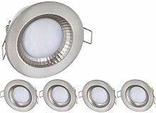 5er Pack - LED Feuchtraum IP54 Einbaustrahler 230V