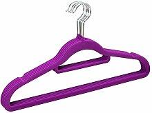5er-Pack - Nahtlose Beflockung Kleidung Rutschfeste Kleiderbügel Clothing Store Kleiderbügel 42 * 23 cm, lila für Baby & Kleinkind Erwachsene Kleidung