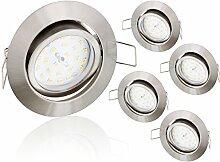 5er Pack - Ultraflacher LED 5W Einbaustrahler