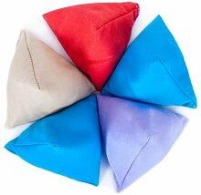 5er Pack von Vermischte Farben Baumwollgewebe Dreieckige Jonglieren Sitzsack Garten Spiele PE Sport-