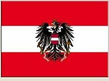5er Set Aufkleber Flagge Österreich mit Adler, 5 Stück - 7 x 10 cm