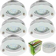 5er Set Design dimmbare LED Einbaustrahler in