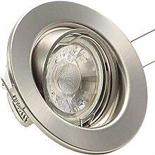 5er Set Einbaustrahler DECORA; 230V; LED 4W = 40W;
