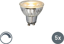 5er Set GU10 dimmbare LED Lampe 7W 500LM 2700K