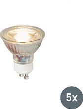 5er Set GU10 LED-Leuchte COB 5W 380LM 3000K