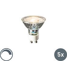5er Set GU10 LED-Leuchtmittel 6W 450lumen 2700K