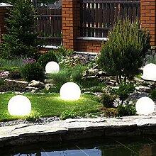 5er Set LED Außen Solar Lampen Kugel Design Erd