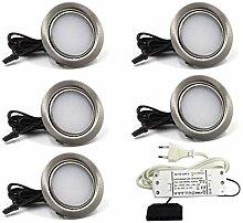 5er Set LED Einbaustrahler Möbelleuchte