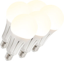5er-Set LED Lampe B60 15W E27 warmweiß