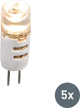 5er Set LED-Leuchtmittel G4 1.5W 12V 80LM warmweiß