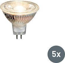 5er Set LED-Leuchtmittel MR16 3W 230 Lumen