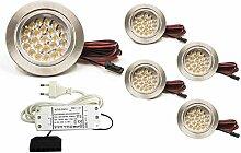 5er SET LED Möbelleuchte Möbeleinbaustrahler