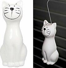 5er Set Luftbefeuchter - Katze - für Heizung aus hochwertigem Dolomit Luftreiniger Wasserverdunster Verdamper verdunster Klima in weiß