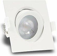 5er Set MERA ultra flach 230V LED 5W eckig Weiß
