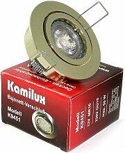 5er x Einbaustrahler Max 230V Farbe Gold GU10 IP20