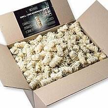5kg Anzünder aus Holzwolle und Wachs I Giftfrei & Geruchlos & rauchfrei mit intensiver Brenndauer I perfekt als Kamin-Anzünder, Ofen- oder Grillanzünder
