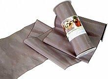 5m Tischband Greige Taupe Tischläufer Kommunion Konfirmation Hochzeit Deko