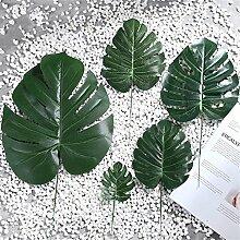 5pcs künstliche grüne pflanze turtle blatt
