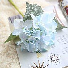 5Pcs künstliche Silk Blumen-Pflanzen-Blumenstrauß vervollkommnen für Hochzeits-Zuhause-Dekoration-Partei DIY Fertigkeit-Garten-Blumendekor (neun Farben sind vorhanden) . light blue