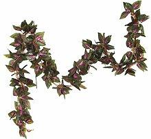 5pcs Künstliche Wand Hängen Efeurebe Seide Laub Blatt Pflanze Dekor - 07, L