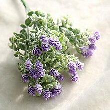 5Pcs Kunstseide-Blumen Pflanze Bouquet perfekt für Hochzeit Hauptdekoration Partei DIY Fertigkeit-Garten-Blumendekor (Fünf Farben stehen zur Verfügung) , purple