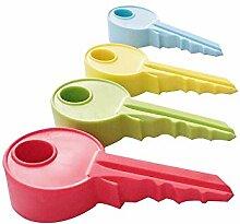 5Pcs Schöne Schlüssel Dekoration Türschild Türstopper / Halter, Zufällige Farbe