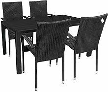 5tlg. Gartengarnitur Sitzgruppe Aluminium