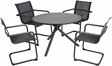 5tlg. Tischgruppe Set Garten Tisch Stuhl Stühle