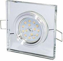 5W Glas Einbaustrahler Elisa Chrom 5Watt LED