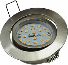 5W LED Downlight Flat-32 warmweiß 420lm Edelstahl