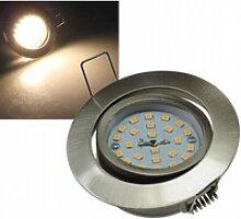 5W LED Downlight Flat-32 warmweiß 470lm Edelstahl