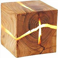 5W LED Holz Wandleuchte Quadratisch Riss WandLampe