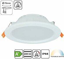 5W Tunable-White LED Einbaustrahler CCT