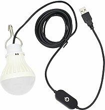 5W USB Dimmbar LED Lampe Birne,für Camping,